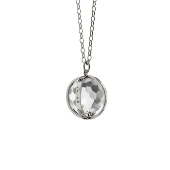 """Carpe Diem"" Necklace in Silver, Large"