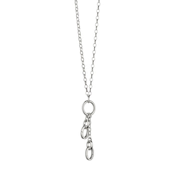 "18"" ""Design Your Own"" Short Charm Chain Necklace, 2 Charm Stations"