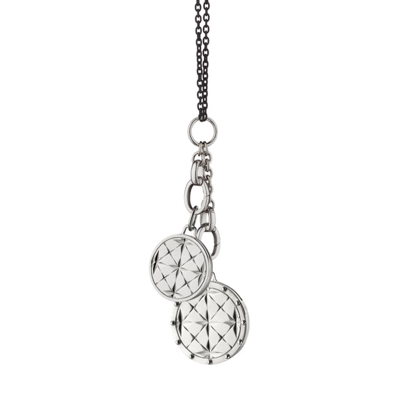 Mosaic Half Lockets Charm Necklace
