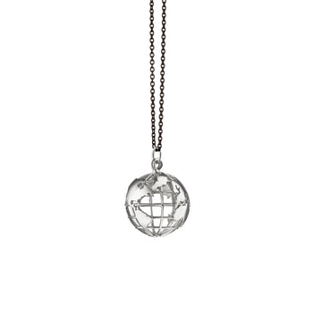 """My Earth"" Charm on a Black Steel Chain"