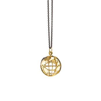 """My Earth"" Charm Necklace on Steel Chain"