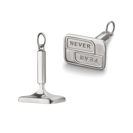 "Sterling Silver ""Never Fear"" Fob"