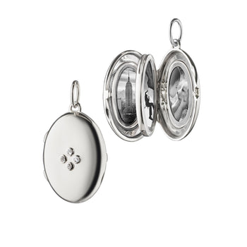 "The Four Image ""Midi"" Locket Charm with Sapphires"