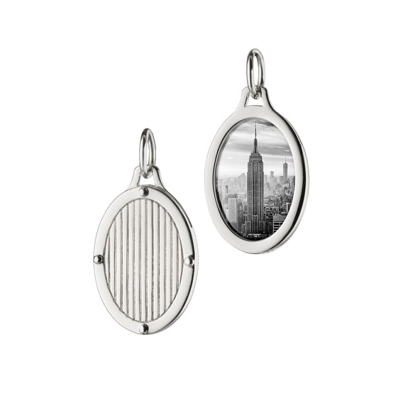 Oval Pinstripe Half Locket