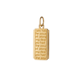 "18K Yellow Gold ""Dorothy"" Medallion"
