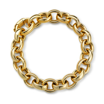 Marilyn Link Bracelet in Yellow Gold