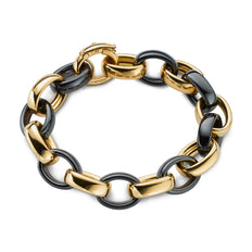 Marilyn Black Ceramic Link Bracelet