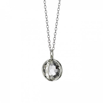 """Carpe Diem"" Necklace in Silver, Small"