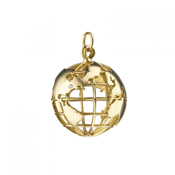 18K Yellow Gold Earth Charm