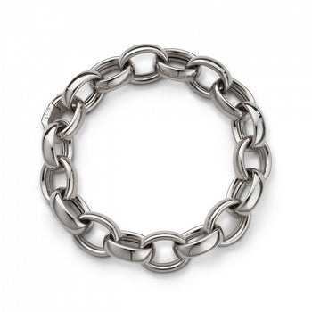 Marilyn Link Bracelet in White Gold