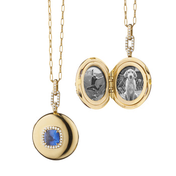 Special Edition Round Cushion Sapphire Locket