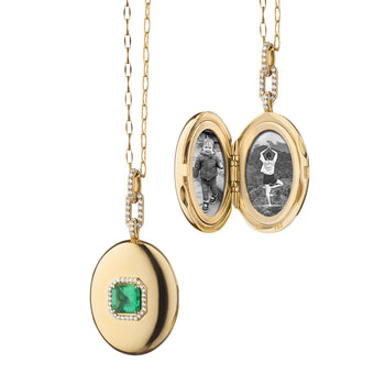 Special Edition Emerald and Diamond Locket