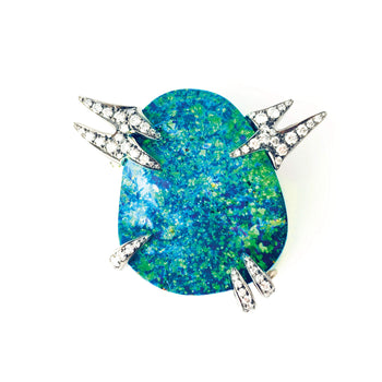 One of a Kind Boulder Opal Galaxy Brooch