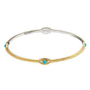 """Protect"" Evil Eye Poesy Bangle"