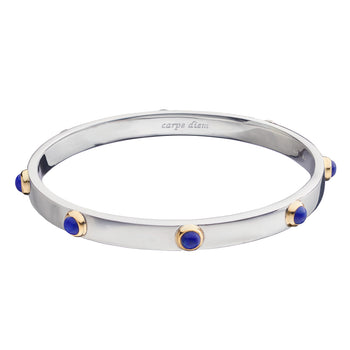 """Carpe Diem"" Two-Tone Poesy Bangle"