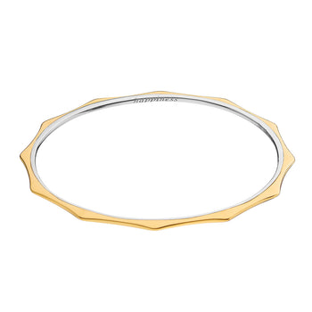 """Happiness"" Two-Tone Sun Poesy Bangle"