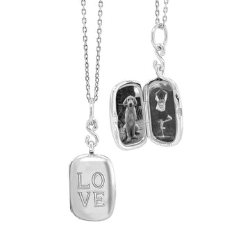 "Slim Rectangle ""Love"" Locket"