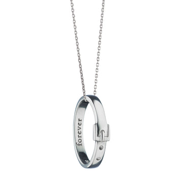 """Forever"" Buckle Poesy Ring Necklace"