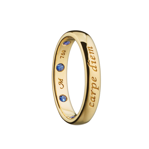 """Carpe Diem"" Poesy Ring with Sapphires"
