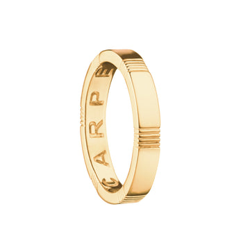 """Carpe Diem"" Striped Poesy Ring"