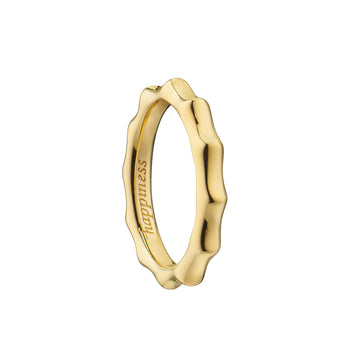 """Happiness"" Poesy Ring, Size 3, 18K Yellow Gold"