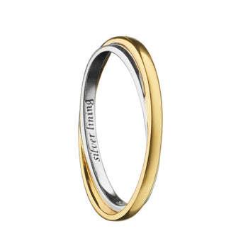 """Silver Lining"" Poesy Ring, Size 6, 18K Yellow Gold"