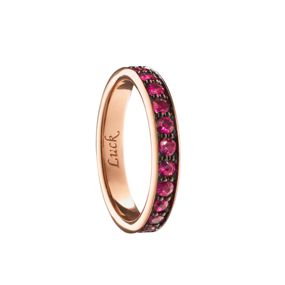 """Luck"" Ruby Poesy Ring"