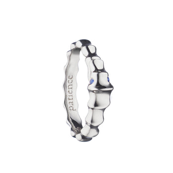 """Patience"" Seahorse Poesy Ring, Size 3, Sterling Silver"