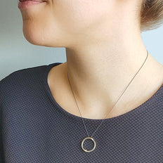"""Strength"" Two-Tone Poesy Ring Necklace"