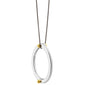 """Strength"" Two-Tone Poesy Ring Necklace on 17"" Steel Chain"