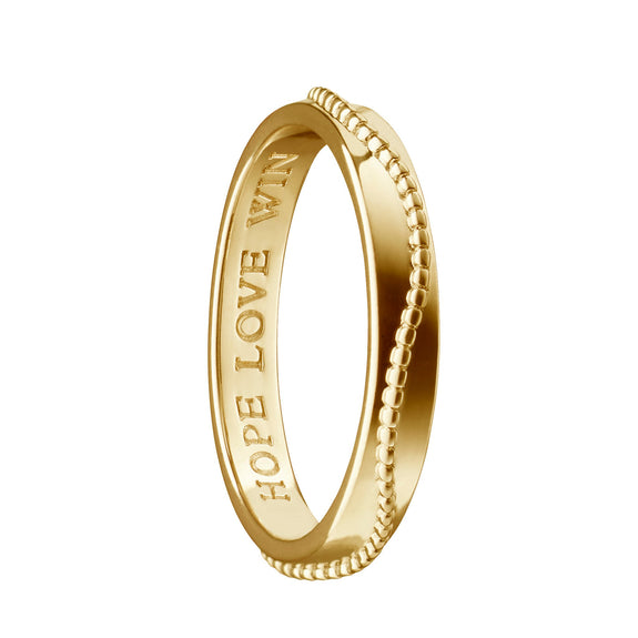 """Hope Love WIN"" Monica Cares Poesy Ring"
