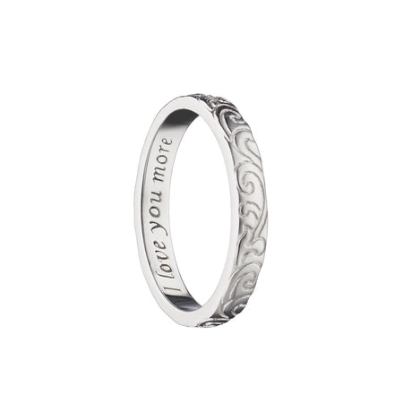 """I Love You More"" Engraved Poesy Ring"