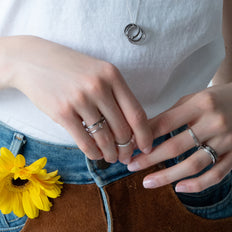 Sterling Silver Poesy Rings and Necklaces