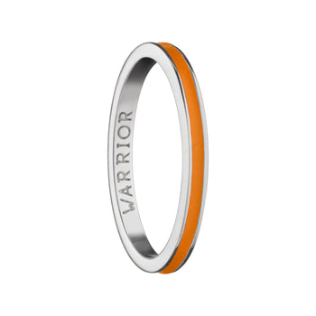"Orange ""Warrior"" Poesy Stackable Ring"