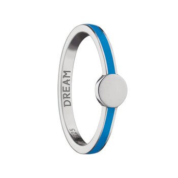 "Turquoise ""Dream"" Signet Poesy Stackable Ring"