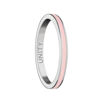 "Pink ""Unity"" Poesy Stackable Ring"