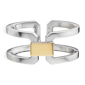 Two-Tone Hinged Statement Cuff