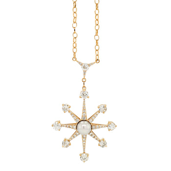 Special Edition Vintage Diamond and Pearl Star Pendant