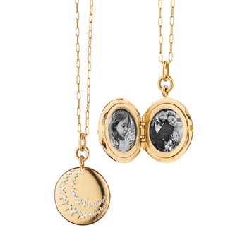 Special Edition Round Vintage Semi-Circle Diamond Locket