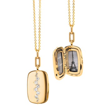 Special Edition Rectangle Vintage Diamond Locket