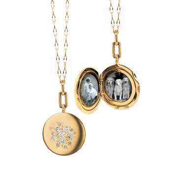 Special Edition Round Vintage Scattered Diamond Locket