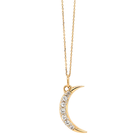 Special Edition Vintage Diamond Moon Necklace