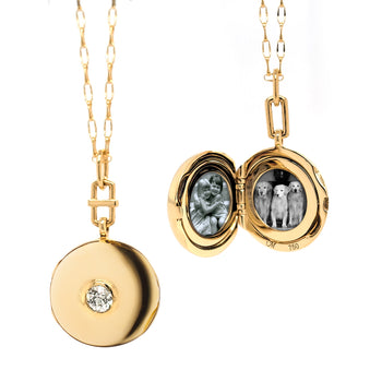 Special Edition Locket with Bezel Set Vintage Diamond