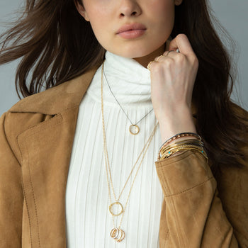 18K Gold Poesy Ring Necklace