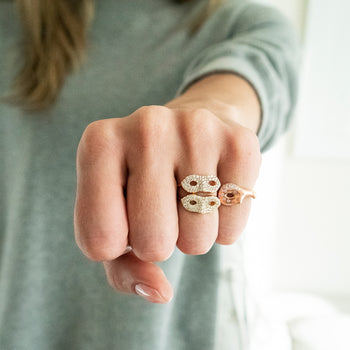 Unmasked™ Scattered Diamond Rose Gold Ring