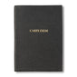 Carpe Diem Embossed Black Leather Journal
