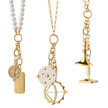 Design Your Own Charm Necklace in 18k Yellow Gold