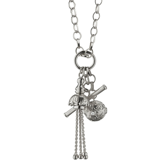 """Style"" Tassel and Toggle Charm Necklace"