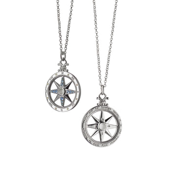 """Travel"" Global Compass Charm Necklace"