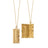 """New York City"" Charm Suitcase Necklace in 18K Gold on a 30"" Chain"